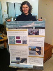 "Our supercool ""Listening to Dolphins"" poster for the Maritime Day Expo in Fremantle"