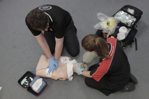 A defibrillator tries to 'reset' the heart's normal rhythm.  They are available in a range of public places in case of emergency - but could you use one?