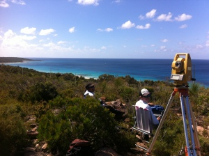 Blue waters and blue whales for the Geographe Bay 2013 theodolite team!