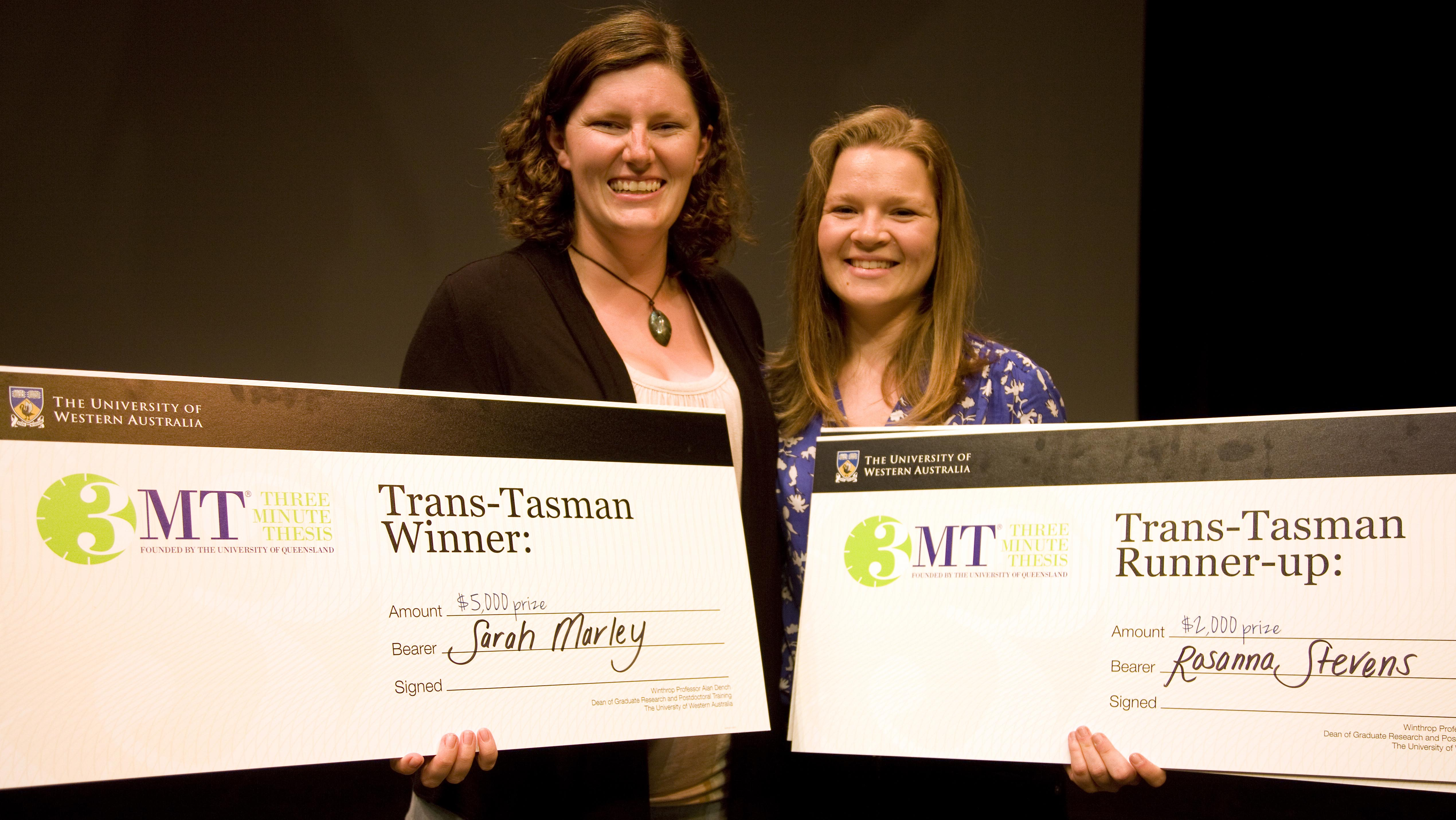 3 minute thesis winner 3 minute thesis (3mt®) is an academic competition developed by the university of queensland (uq), australia the university of leicester is hosting its.