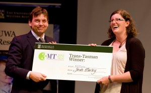 Me laughing manically as I receive my giant novelty cheque from sponsor James Mercer.  Sorry James...